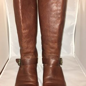 Frye Veronica tall boots. Cognac color size 9